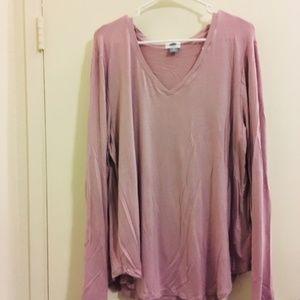 old navy blush pink long sleeve tee Sz 2X